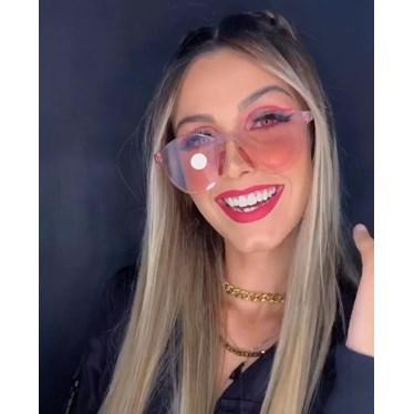 Óculos de sol - Caribe - Rosa transparência