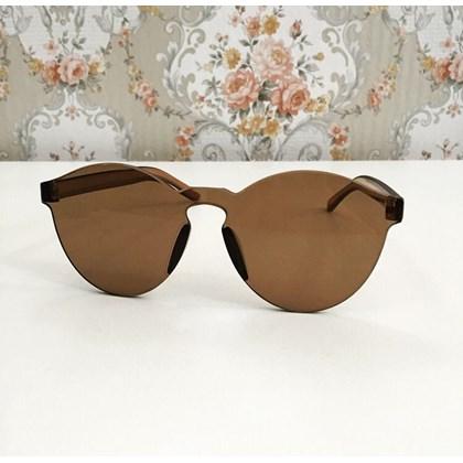 Óculos de sol feminino redondo - Caribe - Marrom
