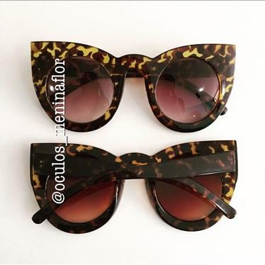 Óculos de sol - Flamingo - Animal print escuro