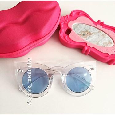 Óculos de sol - Flamingo - Transparente lente azul