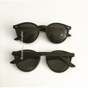 Óculos de Sol - Helen 7007 - Preto lente preta