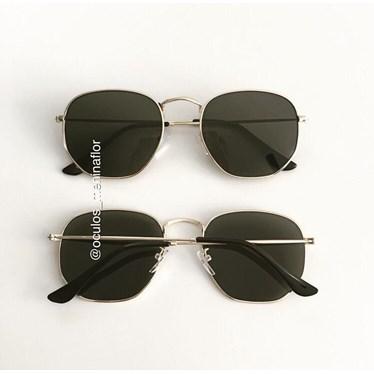 Óculos de Sol - Itália Hexagonal - Dourado lente G15