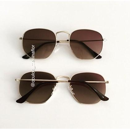 Óculos de Sol - Itália Hexagonal - Marrom