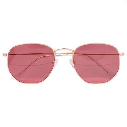 Óculos de Sol - Itália Hexagonal - Rose degrade C6