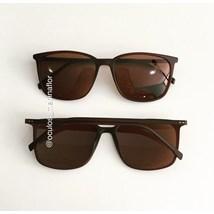 Óculos de Sol - Jasmine quadrada- Marrom fosco lente marrom