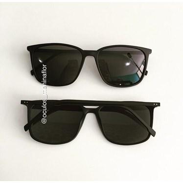 Óculos de Sol - Jasmine quadrada- Preto fosco lente preta