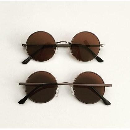 Óculos de sol - John redondinho - Bronze lente marrom