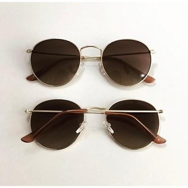 Óculos de sol - Round Clube - Marrom Degradê C4