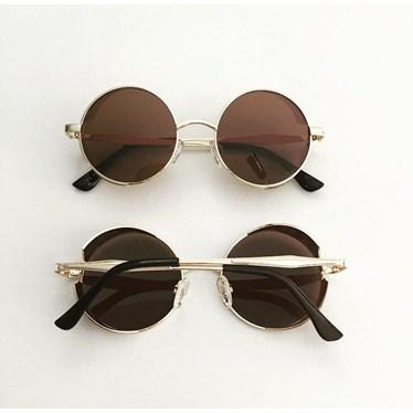Óculos de sol - Round Rock Glow - Dourado lente marrom