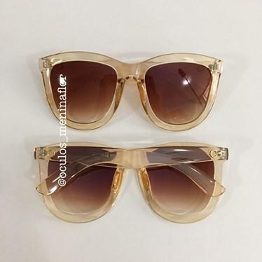 ae1232864198e Óculos de sol - Shadow 3 - Dourado lente marrom - Óculos Menina Flor