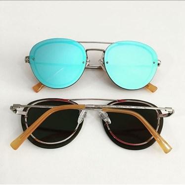 adc085ad1 Óculos de sol - Vallarta - Azul espelhado - Óculos Menina Flor